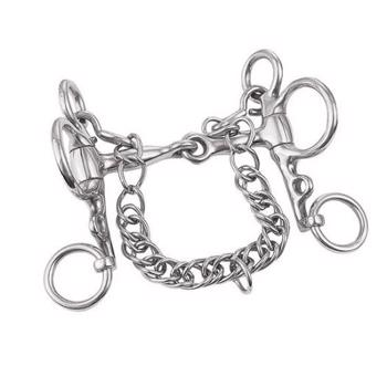 "Weaver Miniature Pelham Bit, 3,5"" Snaffle Mouth"