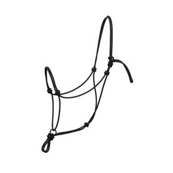 Weaver Silvertip Transition Rope Halter with Sliding Ring - Black